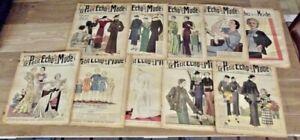 Lot 10 Ancienne Revue le Petit Echo de la Mode1935 à 1938 robe de Mariée satin