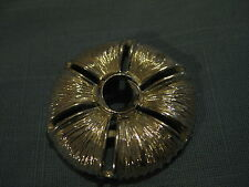 Vintage Silvertone Textured Circle Pin (with slits)