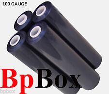 "100 GAUGE - 4 Black Shrink Wrap Stretch Film 18"" X 1000'"