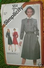 Vintage Simplicity Sewing Pattern 5134 Button-up Dress 10