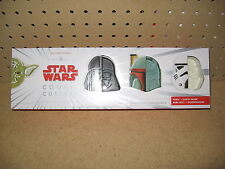 Star Wars Cookie Cutters  by Williams Sonoma HEROES AND VILLAINS   NEW IN BOX!!!