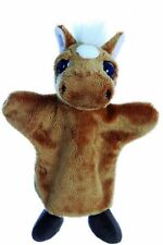 "10"" Nutmeg Horse Soft Baby Toy Plush Hand Puppet - Lil Peepers"
