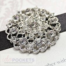 50 X WEDDING INVITATION RHINESTONE VINTAGE BUCKLE CLUSTER BROOCH DECORATION 2