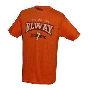 NEW NFL John Elway Denver Broncos Hall of Fame Classic Player Shirt  Orange