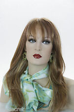 Light Pale Blonde /Auburn / Brown H-Lght Red Long Skin Top Straight Wigs