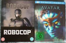 Avatar 3D German Excw/lenticular magnet+Robocop 2xG2 bluray Steelbook sealed OOP