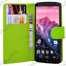 Accessoires Housse etui coque pochette portefeuille VERT Google Nexus 5