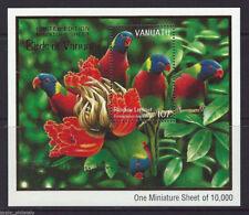 """Vanuatu - """"BIRDS OF VANUATU ~ RAINBOW LORIKEET"""" MNH Mini Sheet MS 1999 !"""