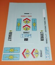 DECALS 1/43 RENAULT 4 F4 - SERVICE ASSISTANCE VACANCES1966 FRANCE - NEW