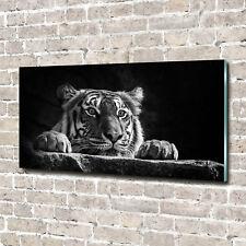 Glas-Bild Wandbilder Druck auf Glas 140x70 Deko Tiere Tiger
