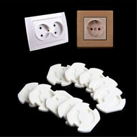 10x EU Power Socket Electrical Outlet Kids Safety AntiElectric Protector CoverXJ