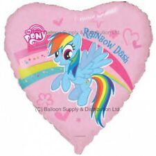 MLP Rainbow Dash MY LITTLE PONY Pink Heart Birthday Party Balloon