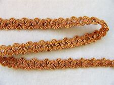 """1/2"""" Gold & Copper Scroll Braid Gimp Trim Lampshades Costumes 10 YARDS or MORE"""
