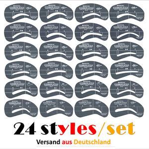 24x Augenbrauen Schablone-Eyeliner Lidschatten Schablonen Eye Liner Augenbraue