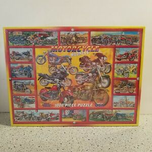 Motorcycle Madness White Mountain Puzzle 1000 Piece New In Sealed Box Made 2008