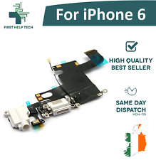 For iPhone 6 Charging Port Connector Dock Headphone Jack Mic Flex White New