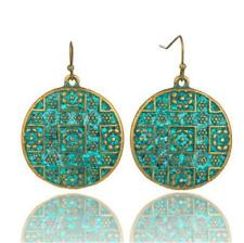 Vintage Bohemian Boho Style Multicolor Round Carving Ethnic Women Earrings Hot