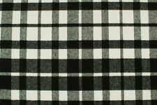 Twill misto lana a quadri bianco e nero STOFFA AL METRO TESSUTO A METRAGGIO