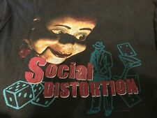 VTG 96 Social Distortion Tour Shirt Sz XL Punk Rock Green Lit Stray Rock A Bily