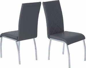 """4-Set Stühle """"SAHRA"""" Kunstleder grau"""