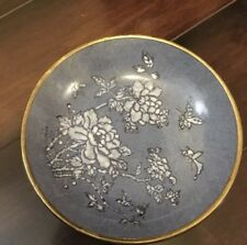 *Japanese Porcelain Ware Blue-White-Gold Bowl