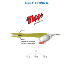 Mepps Aglia Flying 'c' lures Sizes 10g 15g 25g Argent / Chartreuse 10 G