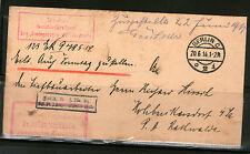 Deutsches Reich 1914 Faltbrief Dienstsache HOHBURKERSDORF BERLIN Siegelmarke