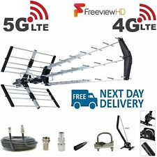 More details for tv aerial 4g triple boom 70 element freeview digital hd indoor outdoor full kit