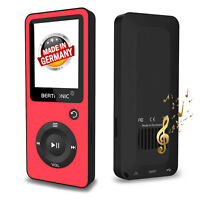 BERTRONIC Made in Germany BC02 MP3-Player - Rot - 100h - mit Schrittzähler FM