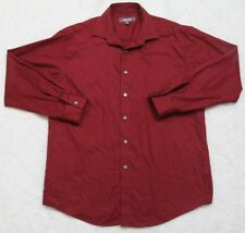 Kenneth Cole Reaction Red 16 32/33 Large Long Sleeve Solid Dress Shirt Top Men's