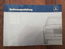 MERCEDES BENZ W124 200D  250D  300D MANUEL UTILISATION betriebsanleitung DEUTSCH