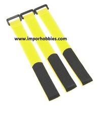 Correa sujeción baterías lipo amarilla 26cm 1/8 Scale (3 Uds.) QR-154Y