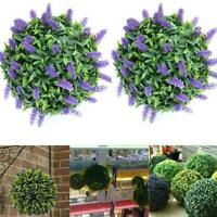 Artificial Simulation Purple Lavender Pruning Ball Decor Flower Hanging E1S6