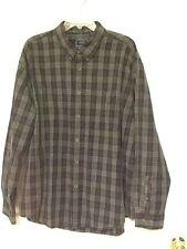 IZOD Jeans men's casual shirt size XXL long sleeve blue multi plaid  23