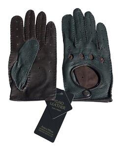Autofahrer Handschuhe D.F.GRÜN/BRAUN CDM.300-2-150