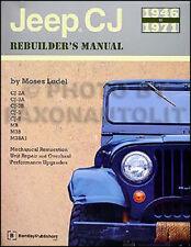 1946-1971 Jeep CJ Rebuilders Manual CJ2A CJ3A CJ3B CJ5 CJ6 2A 3A 3B 5 6 M38 MB