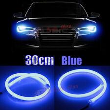 2x 30cm Blue Tube Flexible LED Strip Car Motor Headlight Decorative Light DRL