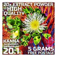 Kanna (Sceletium tortuosum) 20x Extract Powder [5 Grams]