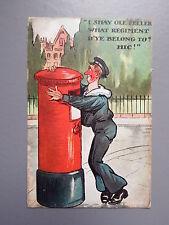 R&L Postcard: Drunk Royal Navy Sailor, Royal Mail Postbox, 1908
