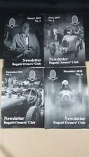 BUGATTI NEWSLETTER MAGAZINE FULL YEAR 4 ISSUES 2010