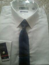 WHITE SHIRT/ TIE SET...size 14.5