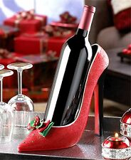 Festive Christmas Party Cheer ** HOLIDAY HEEL WINE BOTTLE HOLDER ** NIB