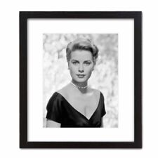 Historic Fashion Beauty Black and White Photograph: GRACE KELLY Famous Actress