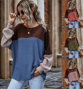 Fashion Women Long Sleeve Loose Casual Top Blouse Ladies T-Shirt Plus Size