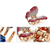 Butterfly Claw Girl Women Rhinestone Crystal Hair Clip Clamp Jaw Hairpin Jewelry