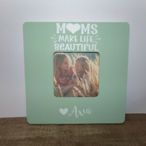 moms make life beautiful personalized picture frame, mother's day gift, mom gift