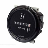 12V-36V Hour Meter for Marine Boat Tractor Engine 2'' Round Gauge Easy to Read