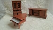 Miniature Wooden DollHouse Furniture-Piano,Secretary, Great Used Condition