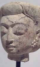 Majapahit Carved Tuff Stone head of a Royal Court Lady