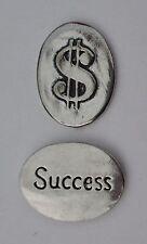 o Success dollar sign $ spirit PEWTER POCKET TOKEN CHARM basic coin